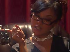 Sexy Ebony Whore Kaylani Lei In Interracial Action