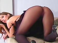 Jenna Haze pantyhose fetish tease and talking