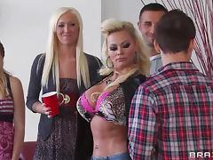 Fucking The Irresistible Blonde And Slutty Milf Nikita Von James