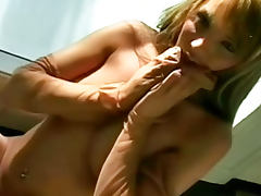 Charlie Laine nylon fetish porn is sizzling