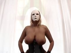 Dominas in corset and nylons Big tits and pumped pussy
