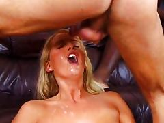 Beautifull Blonde Gangbang