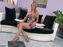 Busty milf Tanya Tate stuffs her nice pussy with toys