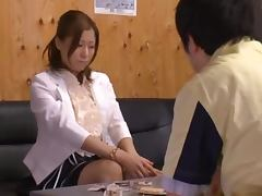 Kinky Dude Forcing Japanese Girl Chihiro Akino to Suck His Dick