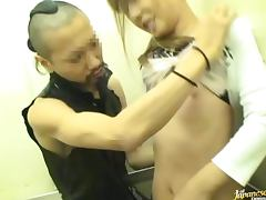 Pretty Japanese Housewife Gets Fucked In Elevator