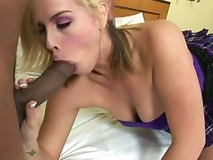 Lovely blonde tara lynn foxx gobble a black rod