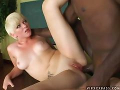 Ups and 'Downs' for a sexy blond babe Claudia Downs