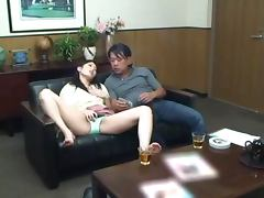 Japanese teen Nozomi Aiuchi gets fucked by an older man