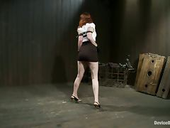 Sloane Soleil Riding a Sybian while Bounded in Extreme BDSM Vid