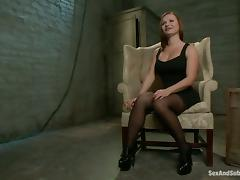 Tied up Katja Kassin gets fucked in her mouth and ass
