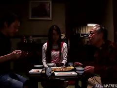 Yui Hatano gives a nice blowjob to some elderly dude
