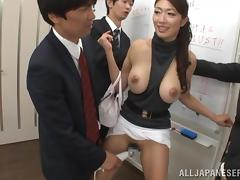 Training in office ends up with a nice gangbang