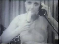 Hot 1940's hoe spreads her legs and takes a thick cock in her hairy snatch