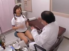 Gyno spy video with horny doctor fingering an asian pussy