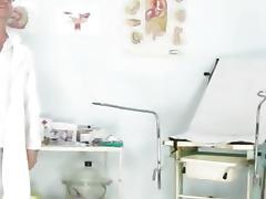Cute blonde teen Misa odd vagina exam