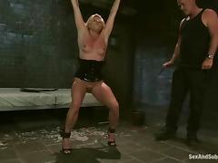 Upper-cut Lynn gets distressful and ass-fucked in a basement