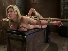 Big tittied Sara Jay gets toyed and tortured with a mousetrap
