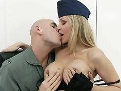 big titted milf officer gets fondled