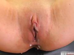 All Internal Thin chicks first 3some creampie