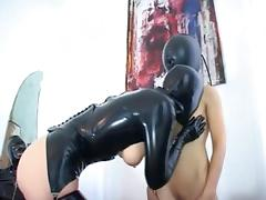 Kinky babes in latex in all sorts of action