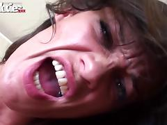 brunette slut goes wild on cock