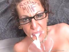 Nasty MILF With A Cum Fetish Gets The Big Facial She Wanted