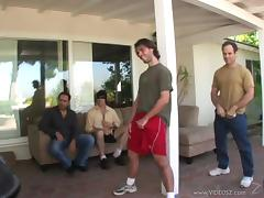 Courtney Cummz takes on multiple guys during a gangbang